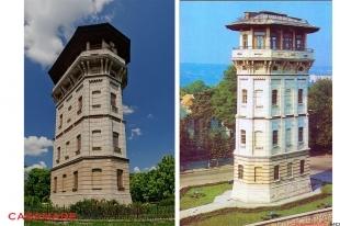Turnul de apa cu foisor de foc din Chisinau, Moldova | Водонапорная башня Кишинев, Молдова